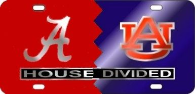 Craftique Tennessee Alabama House Divided Laser Cut License Plate