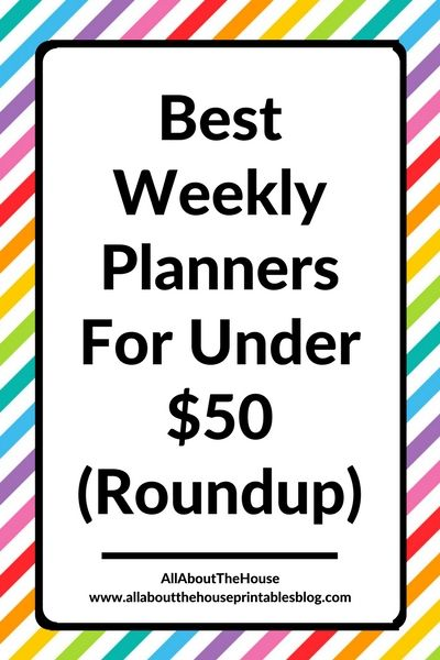 best weekly planners for under 50 roundup weekly planner