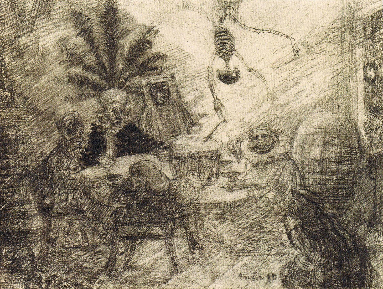 James Ensor, King Pest (1880), after Edgar Allan Poe