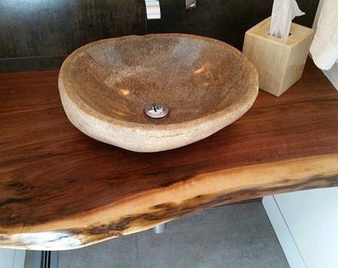Live Edge Wood Vanity Live Edge Wood Encimeras Mesas de cocina Mesa comedor Mesa mesa Mesa de mesa mesa mesa