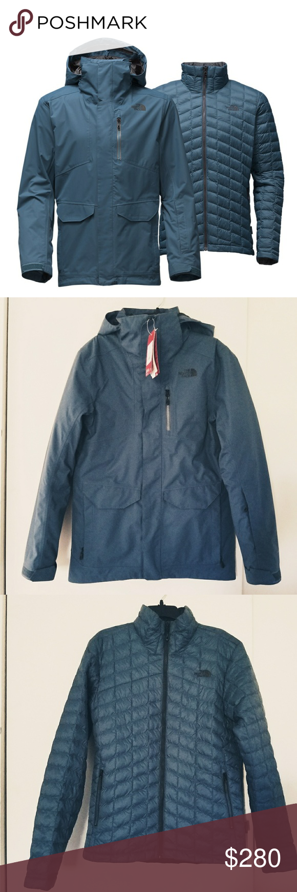 Men S The North Face Thermoball 3 In 1 Triclimate Outer Jacket Clothes Design Snow Skirt [ 1740 x 580 Pixel ]