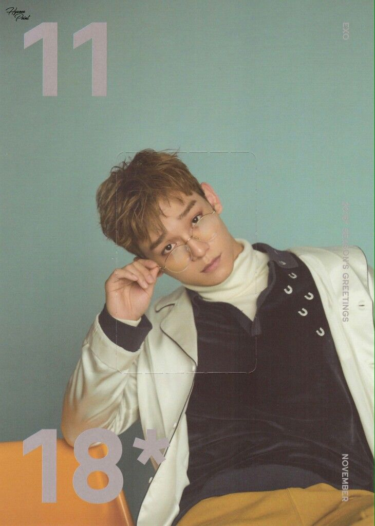 2018 #EXO #CHEN @Seasonu0027s Greetings Calendar EXO  Scan - next line küchen