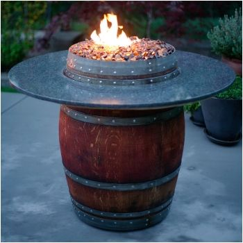The reserve wine barrel fire pit table with barrel wood top 42 the reserve wine barrel fire pit table with barrel wood top 42 bar height watchthetrailerfo