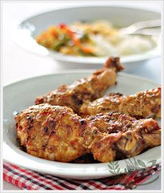 Anncoo Journal - Come for Quick and Easy Recipes: Ayam Percik (Baked Chicken in Coconut Sauce)