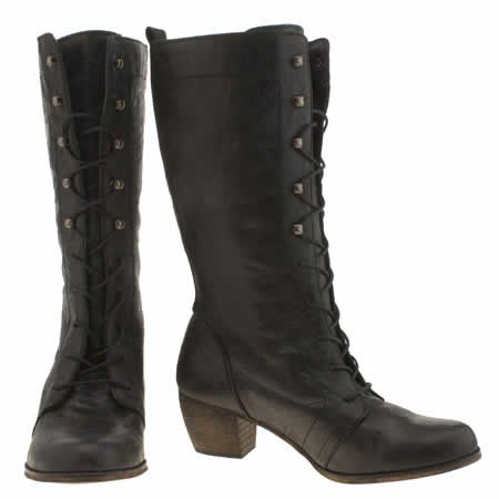 womens red or dead black maths boots £120