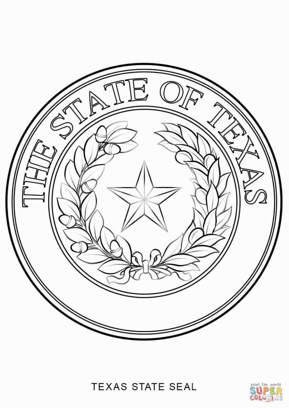 Texas State Symbols Coloring Pages Flag Coloring Pages Coloring
