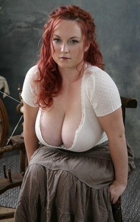 Buxom Redhead