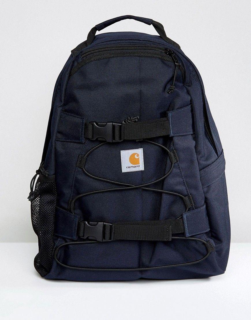 CARHARTT WIP KICKFLIP BACKPACK - NAVY.  carhartt  bags  canvas  backpacks   polyester