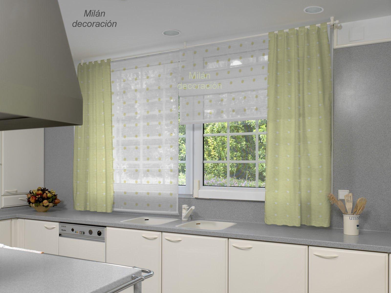 El blog de milan decoraci n cocinas ideas para el hogar - Que cortinas poner en la cocina ...