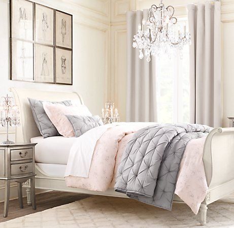 Bedrooms Guest Pink White Bedroom