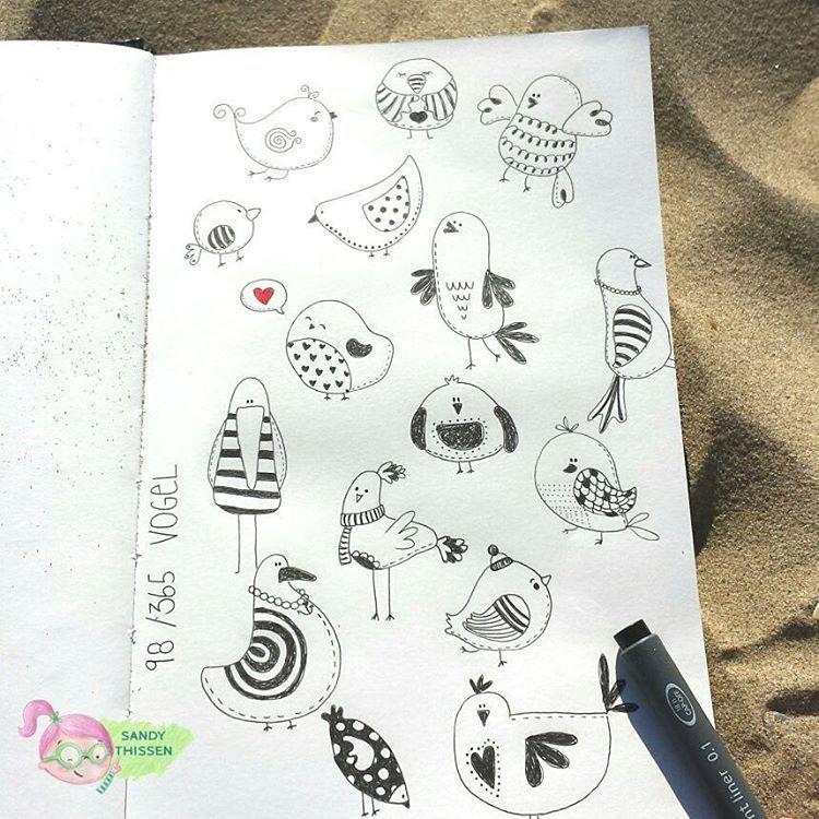 Sandythissen Auf Instagram Lustige Vögel Bird Doodle
