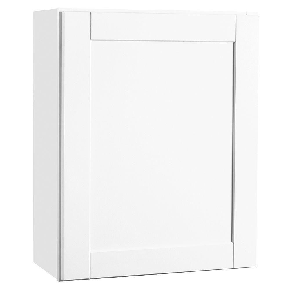 Hampton Bay Shaker Assembled 24x30x12 in. Wall Kitchen Cabinet in ...