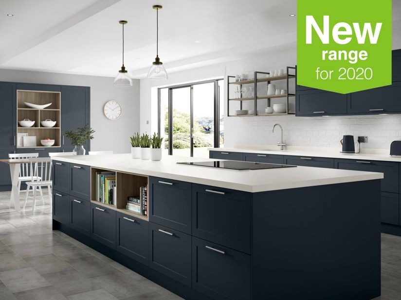 Chester Midnight Wickes Co Uk In 2020 Kitchen Dining Room Combo Layout Kitchen Dining Room Combo Kitchen Trends