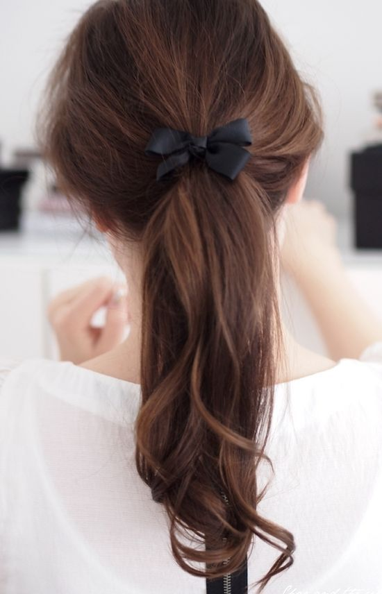 Little bow to add some style to a messy ponytail | Spark | eHow.com