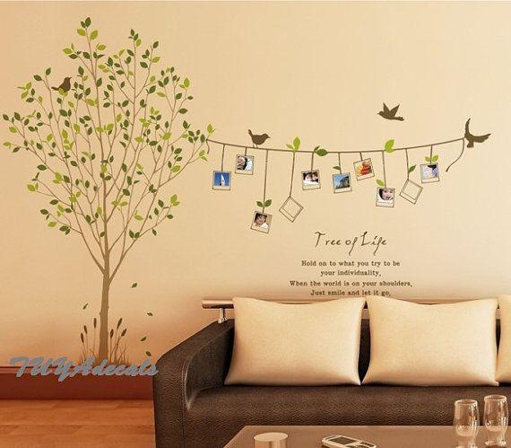 Kinderzimmer wandgestaltung baum selber malen  Wand Aufkleber Vinyl Wall Decal Natur Design Baum von TUYAdecals ...