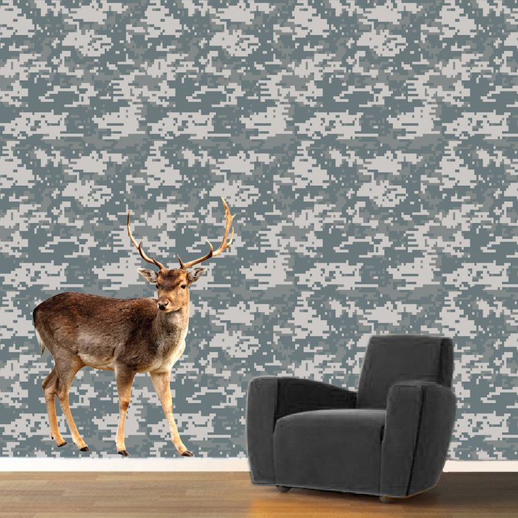 Digital Camouflage Wallpaper Decal _ Self Adhesive Army Camouflage Removable Wall Decal Mural _ Camo Army & Digital Camouflage Wallpaper Decal _ Self Adhesive Army Camouflage ...