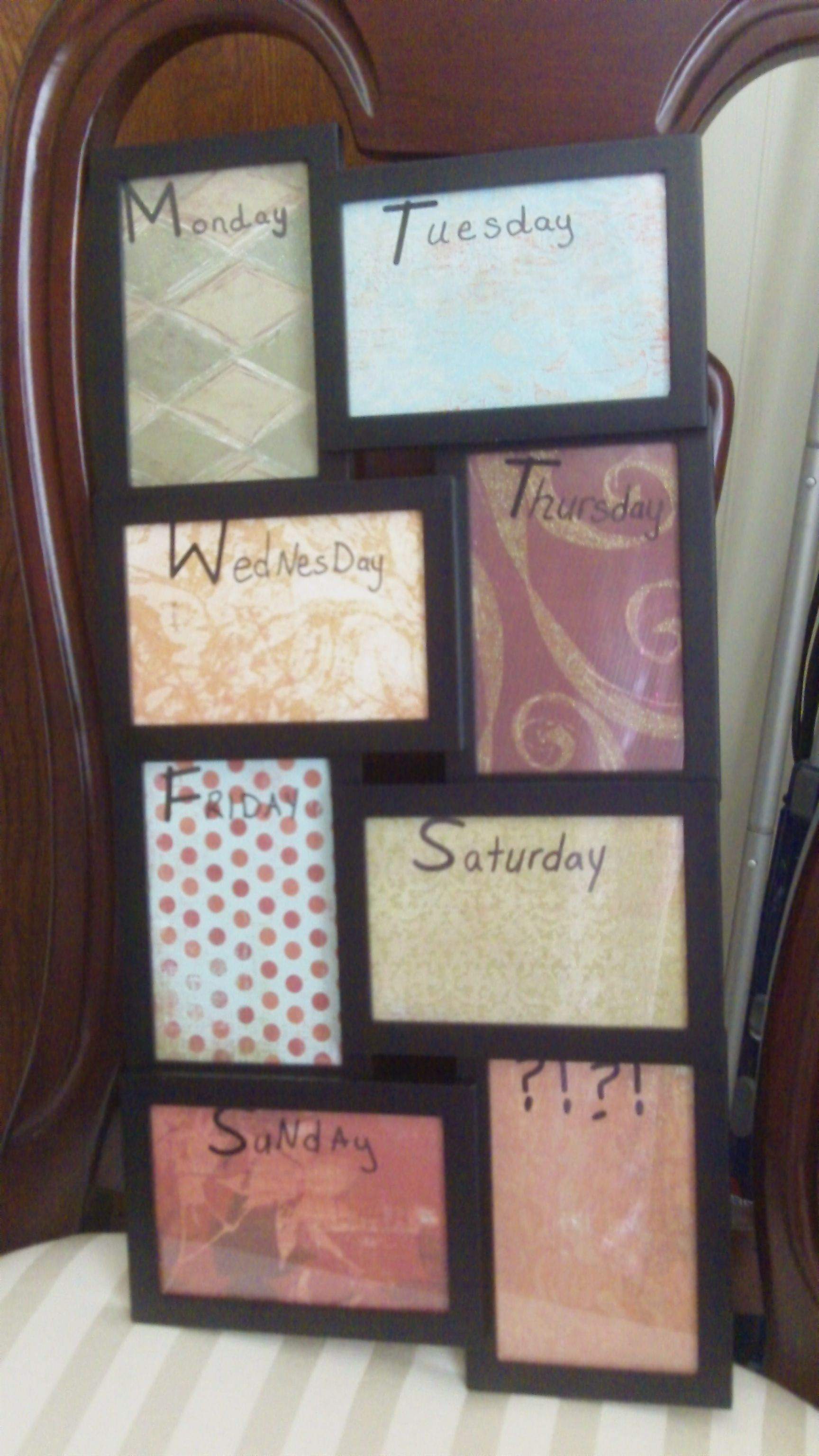 Our Launch Pad & New Weekly Calendar Collage frames, Dry