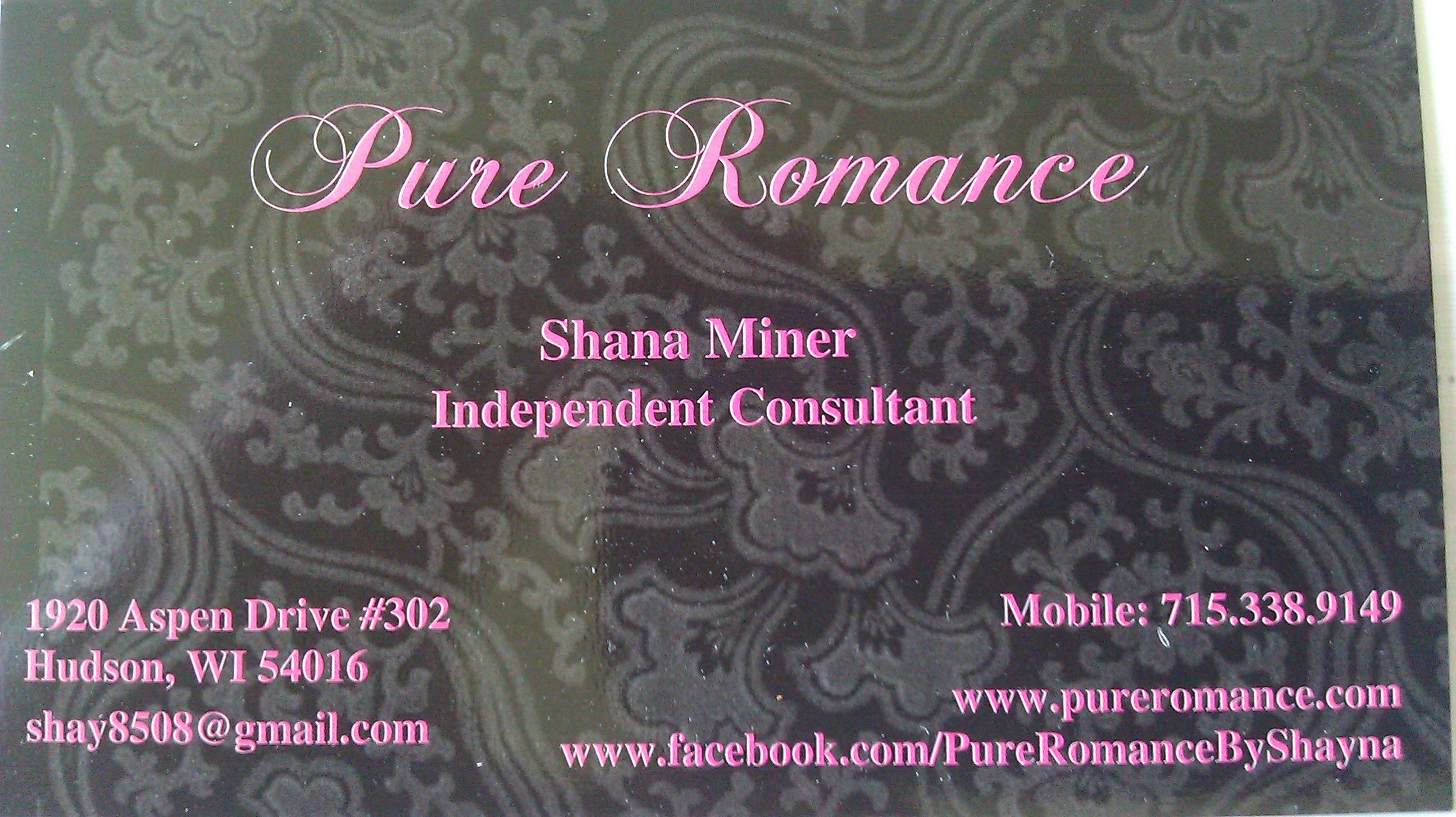 My Business Cards! :) Sorry for the glare! They are glossy! | Pure ...
