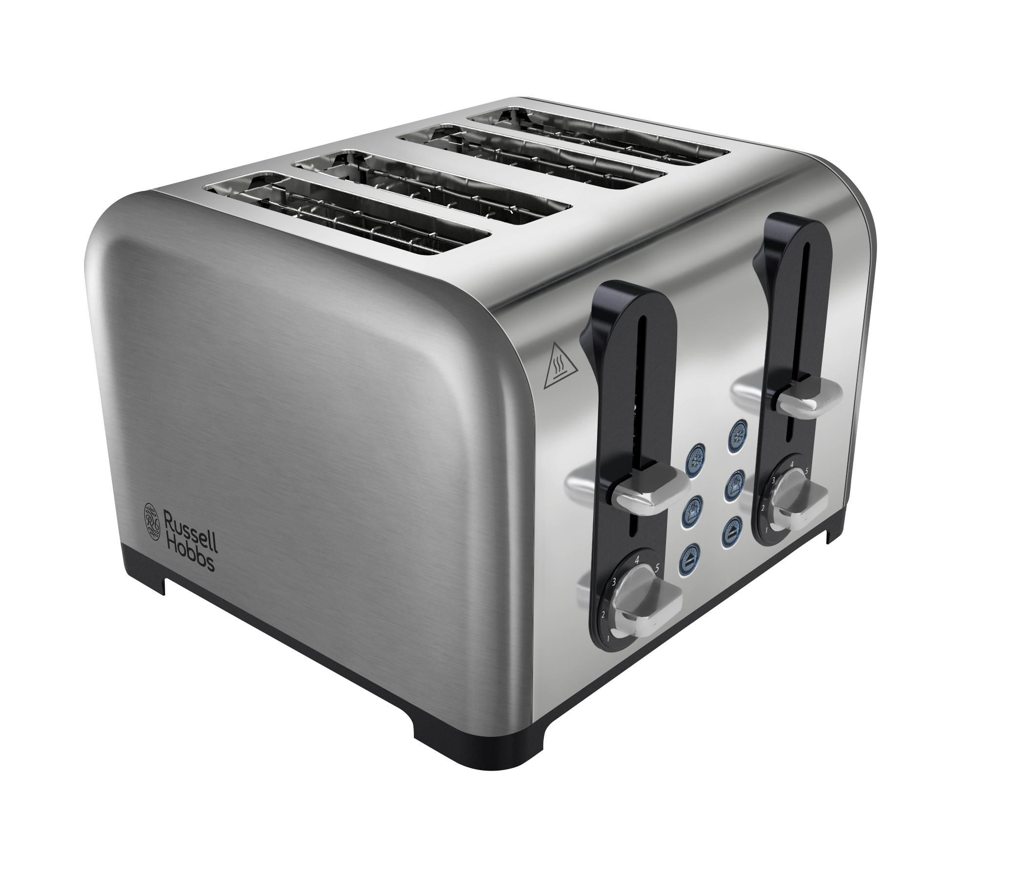 russel hobbs 4 slice toaster   stainless steel   in home furniture  u0026 diy appliances small kitchen appliances russell hobbs 22400 wide slot four slice toaster   stainless steel      rh   pinterest com