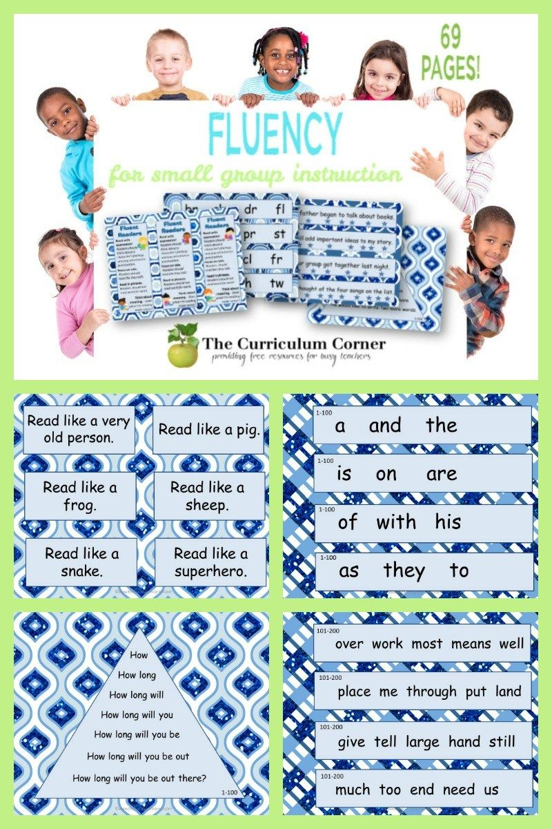 Fluency Practice For Small Groups Fluency Activities Small Groups Small Group Reading Instruction Free printable oral reading fluency