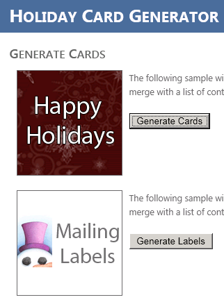 How to Create Your Own Holiday Cards Mailing Labels Developer