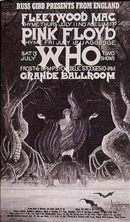 Fleetwood Mac, Pink Floyd, Who - Grande Ballroom