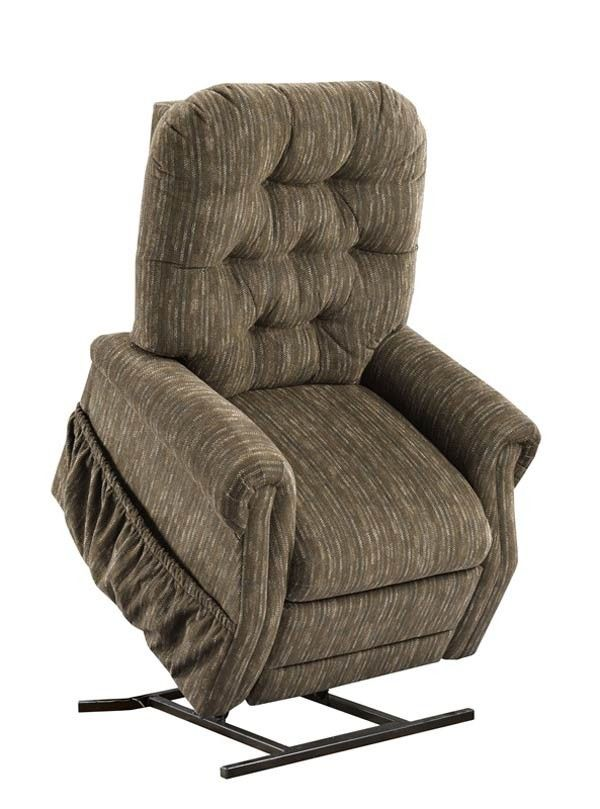 Med Lift Two Way Reclining Power Lift Chair With Matching Arm And Headrest Covers Bromley Cobblestone Fabric 2555 Bc Lift Chairs Lift Recliners Recliner