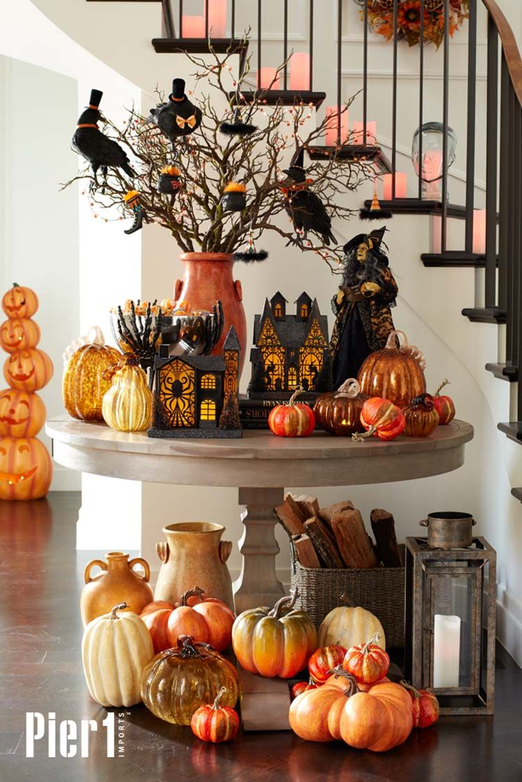 25 Ideas To Style Your Console Table With Spooky Halloween Decorations Halloween Table Decorations Spooky Halloween Decorations Diy Halloween Decorations