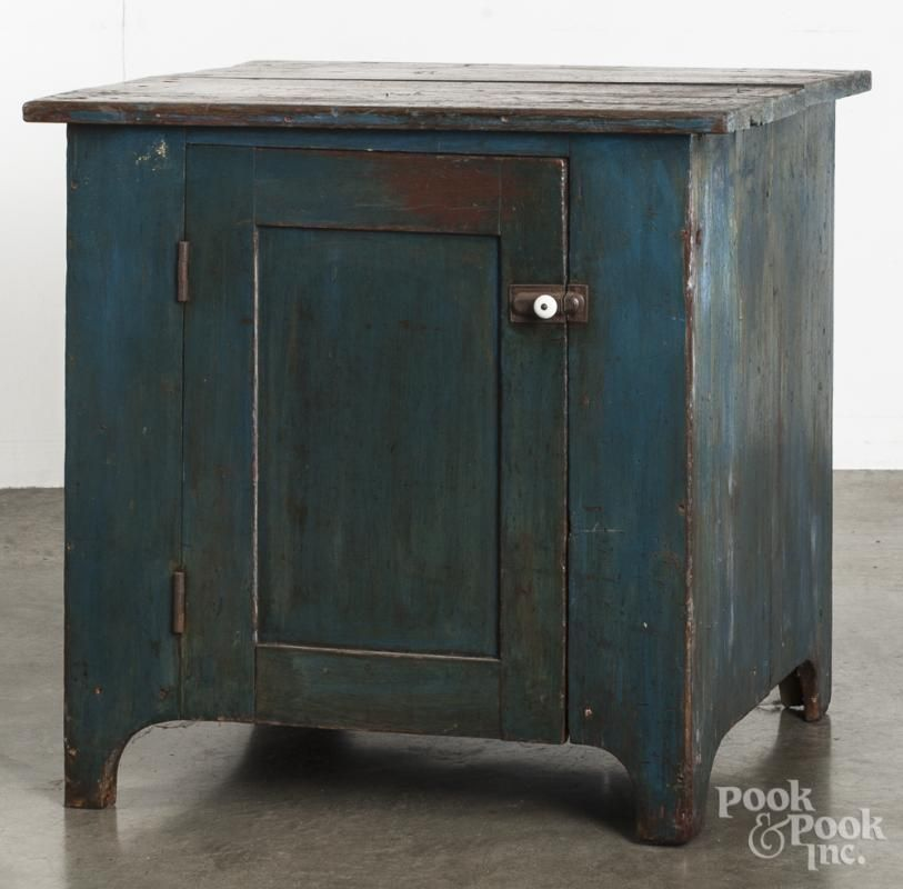 Pennsylvania Spice Cabinet Plans: Painted Pine Low Cupboard, 19th C.