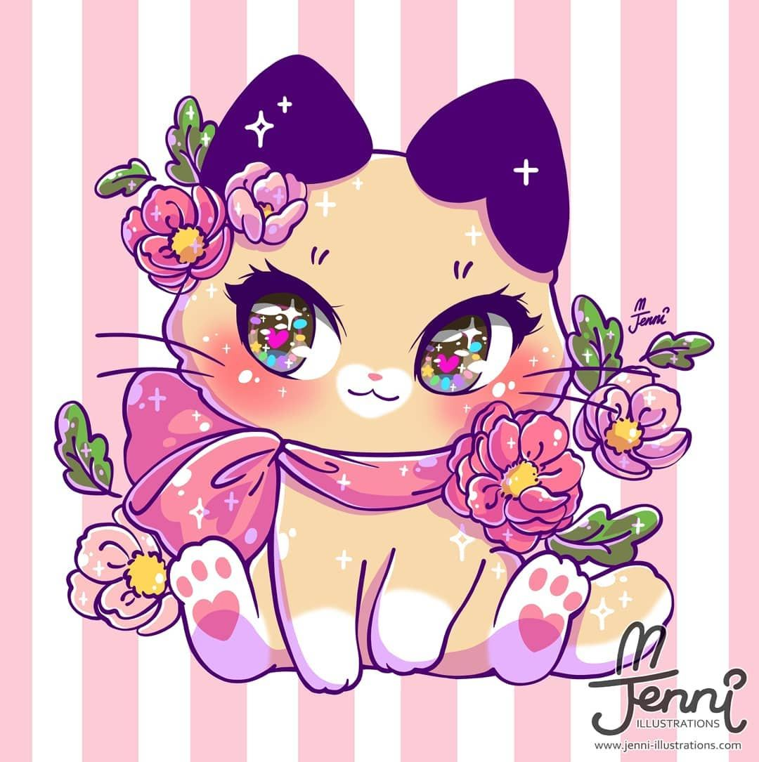 Spring Latte Kitty Been Awhile Since I Drew Some Pretty Eyes Originalcharacte In 2020 Cute Animal Drawings Kawaii Kawaii Drawings Cute Cat Drawing