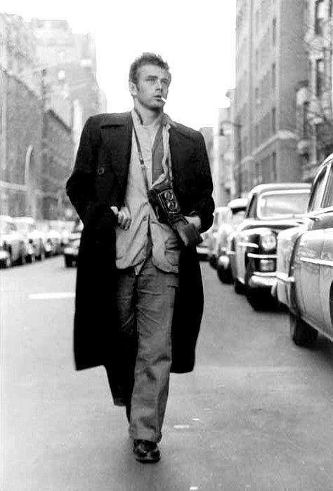 James Dean con Rolleiflex
