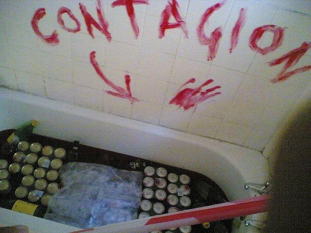 Bloodbath for the Zombie Apocalypse party Zombie apocalypse party