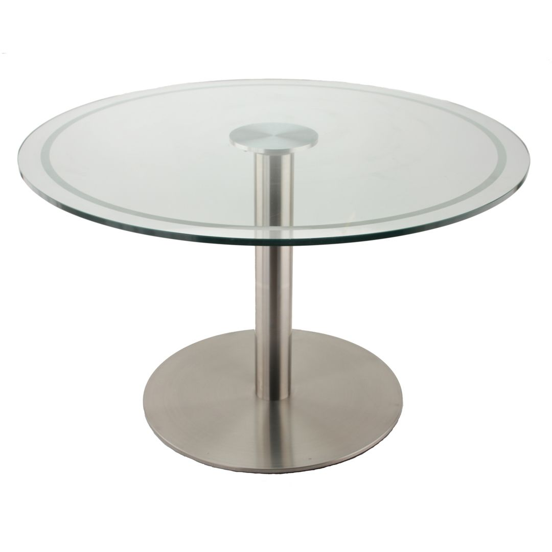 This Is Our Rfl750 Stainless Steel Table Base Used With Our Glass Top Adapter To Create A Stunning Mod Steel Table Base Glass Top Table Stainless Steel Table [ 1080 x 1080 Pixel ]
