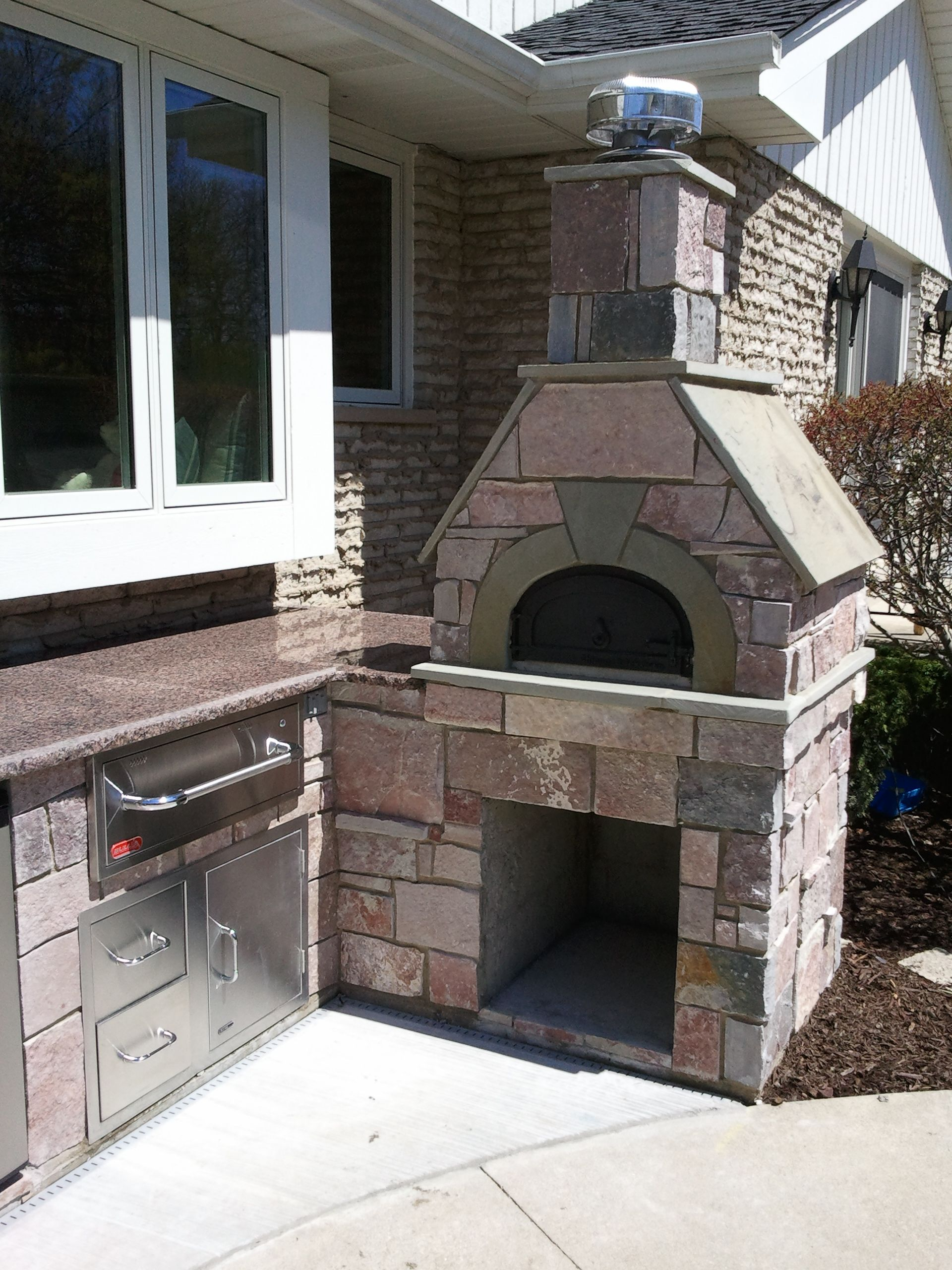 Outdoor Covered Patio With Fireplace Great Addition Idea Dream Dream Dream: Planning Your Dream Outdoor Living Space? A Chicago Brick Oven Is A Great Addition To Any