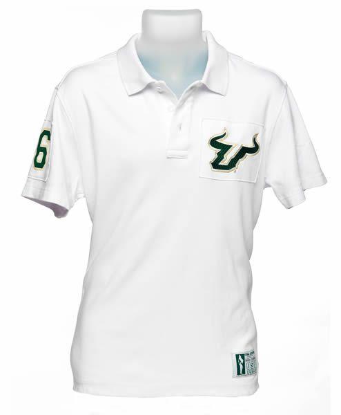 Usf Bulls White Collar Scholar Polo Mens Tops Mens Polo Shirts Mens Outfits