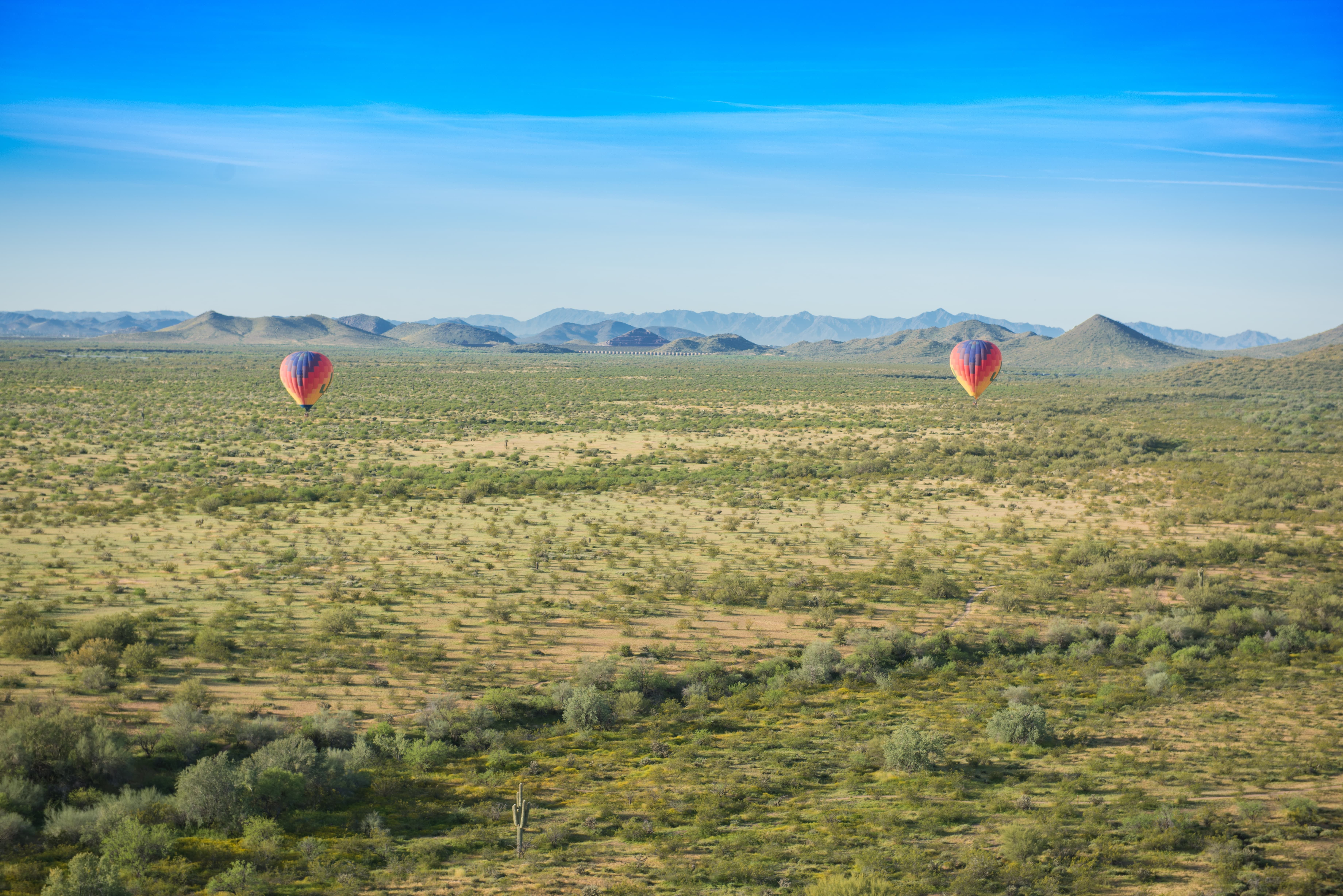 How is this view! Hot air balloon rides