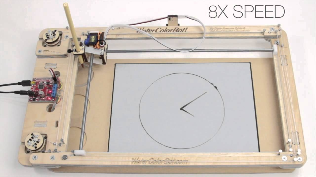 A Watercolorbot Water Clock Paints Evaporating Time On Buddha