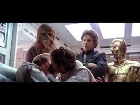 Han and Leia Kiss - Empire Strikes Back [1080p HD] - YouTube
