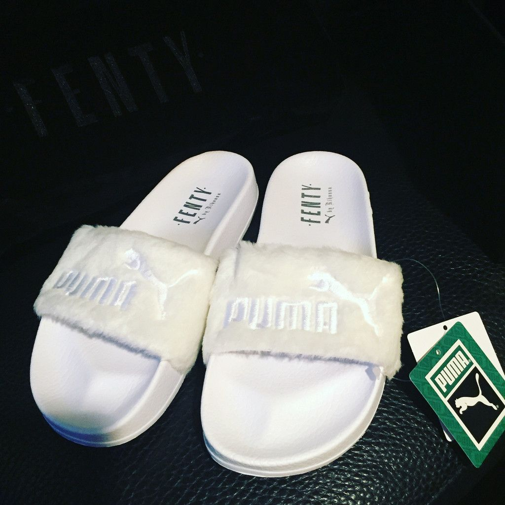 wholesale dealer fc962 529d8 Puma x Rihanna Leadcat Fenty Slide White | Work outfits in ...