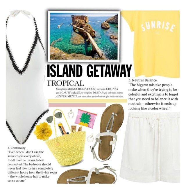 """Island Getaway - Berlengas"" by anarita11 ❤ liked on Polyvore featuring Seafolly, TIBI, MANGO, Sun Bum, Sunnylife, Salinas, Gucci and islandgetaway"