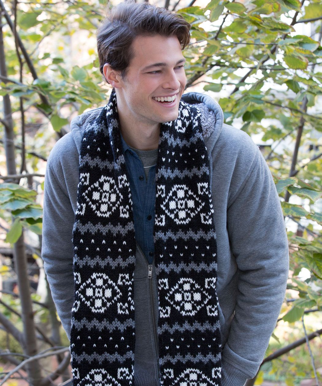 My new Fair Isle Scarf design is now available as a free pattern ...