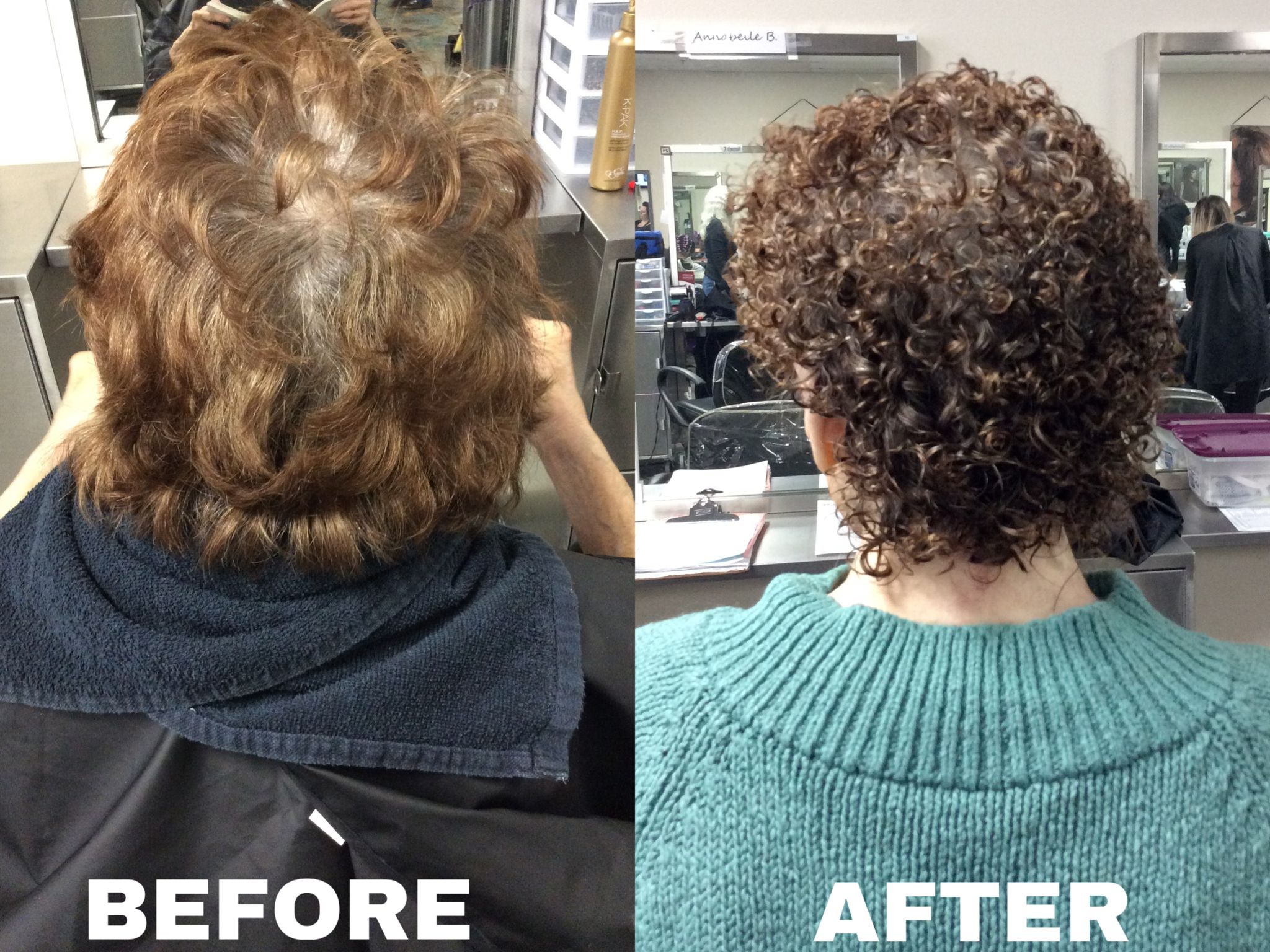Basic perm using quantum ultra firm option and with yellow rods in