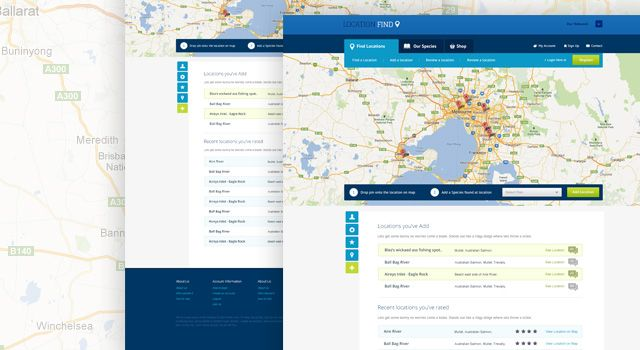 Location Find Mapping Website Template Free PSD