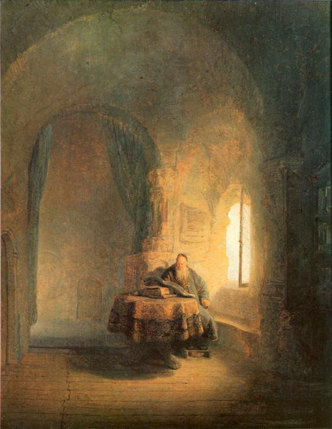 Rembrandt「Philosopher Reading」(1631)
