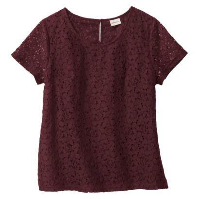 Women's Lace Short Sleeve Top