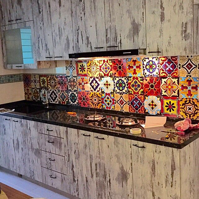 Tile Decals. Mexican Talavera tile stickers by SnazzyDecal