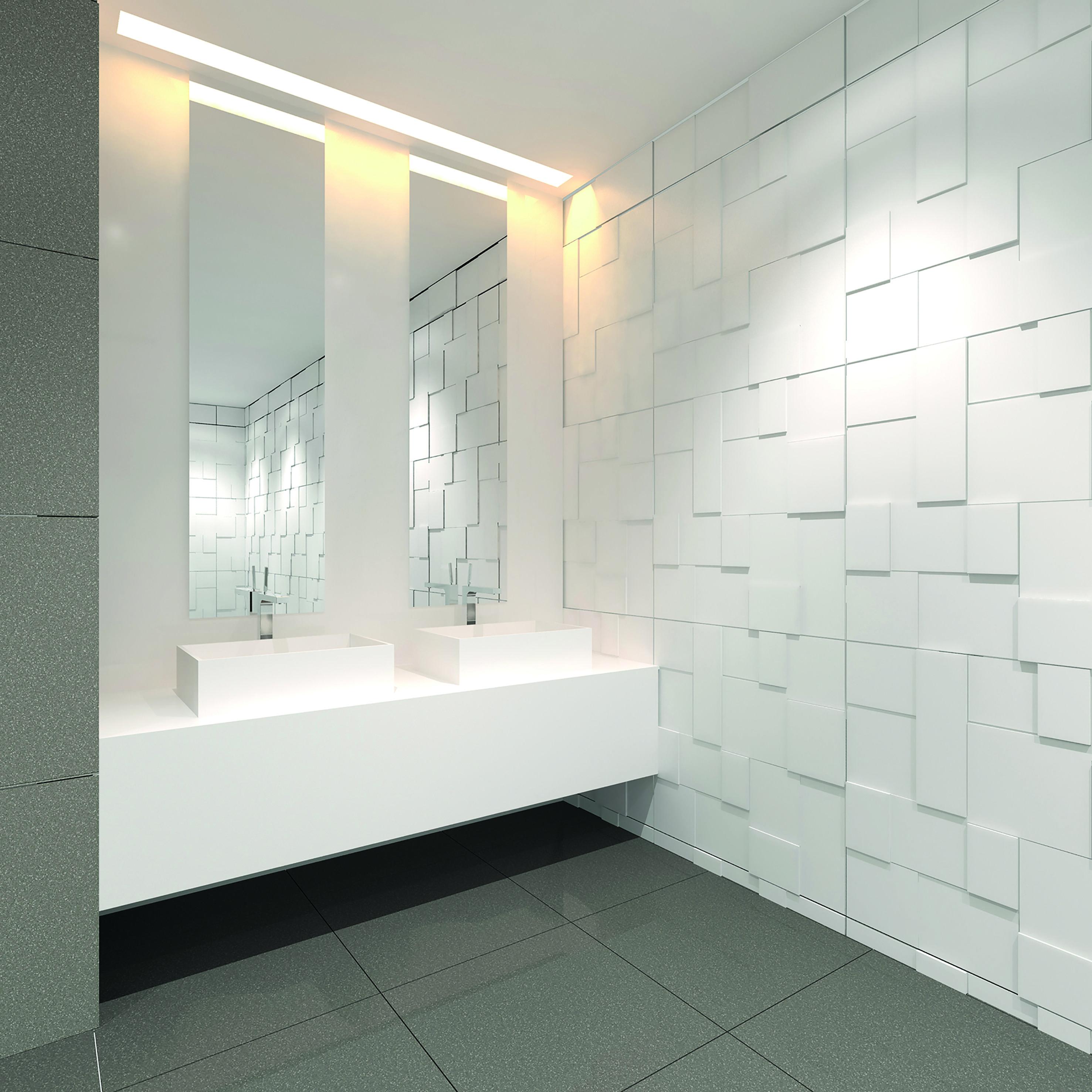 BURGMANS® Puurwit solid surface wastafels | Wastafels badkamer ...