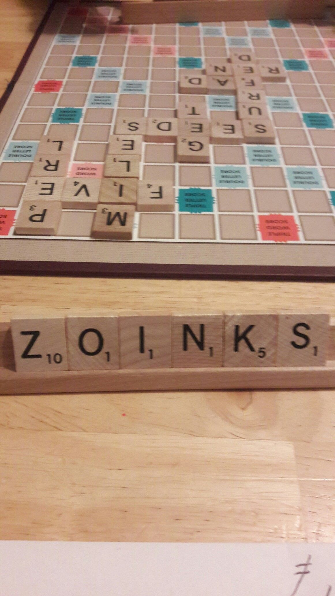 playing scrabble with my 13 yr old i get this u0026 no place to put