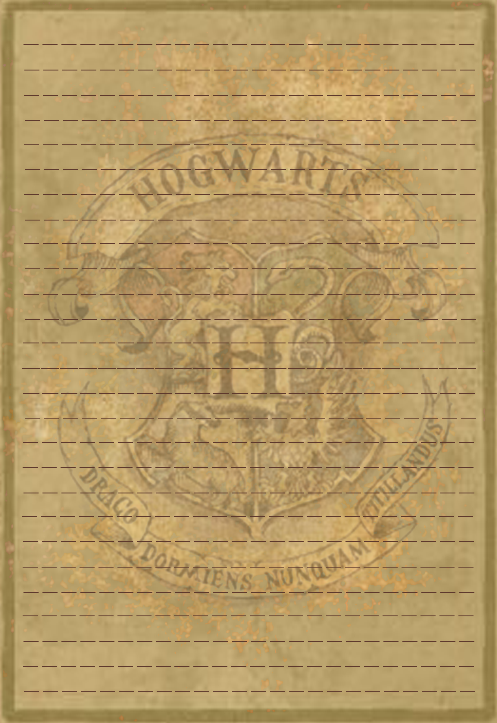 Hogwarts Crest Stationery V1 By Sinome Rae D4c1p8g Png 1650 2400 Carta De Harry Potter Clase De Harry Potter Carta De Hogwarts