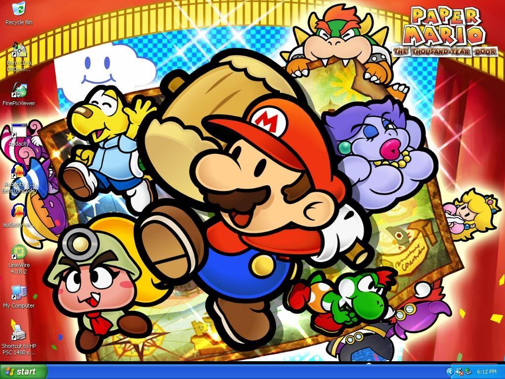 Wallpaper Blink Paper Mario Hd Wallpaper Hd 11 1024 X 768 For Android Windows Mac And Xbox Paper Mario Mario Super Mario Bros